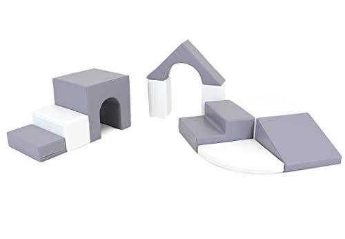 IGLU XL Softbausteine Riesenbausteine Großbausteine 10 Stück Grau und Weiß