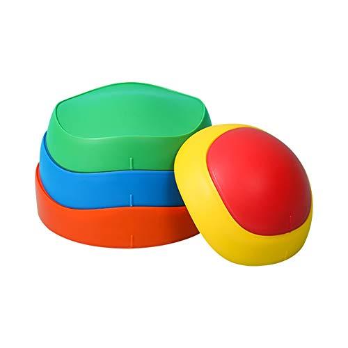 FYBlossom 5tlg.Hügelkuppen Set Balancierset Balance-Steine Flusssteine Balancespiel für Kinder Übungsbalance & Koordination