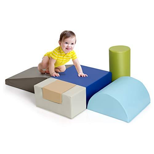 DREAMADE Riesenbausteine 6 TLG., Schaumstoff Bausteinset, Weiche Schaumstoffbausteine für Kinder Baby, Softbausteine Großbausteine für Kinderzimmer Kindergarten (Farbe2)