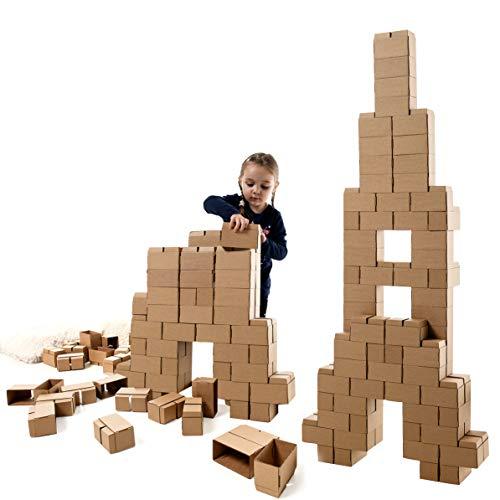 Gigi G-3 Bausteine – kreatives Spielzeug, 96 XL Bausteine. Wunderschönes Geschenk für ein Mädchen und einen Jungen
