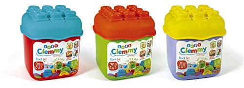 Clementoni 14741 Clemmy Bausteine, buntes Soft-Block Set, weiches Motorikspielzeug, Babyspielzeug zum Greifen & Beißen, 20 Blöcke für Kleinkinder ab 6 Monaten