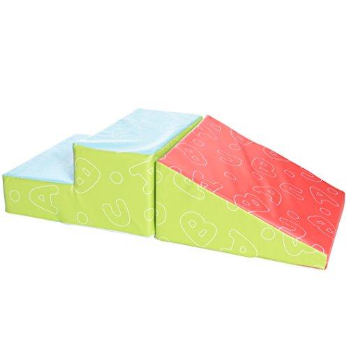 Milliard - Softbausteine Schaumstoffbausteine Treppe und Rutsche für Kinder - Weiches Klettergymnastik-Spielzeug zum Klettern, Rutschen und Krabbeln