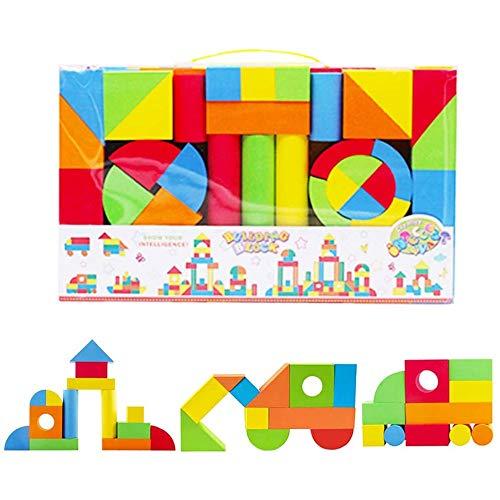 YAWJ Bausteine aus Schaumstoff Spielzeug für das kreative Lernen von Kindern Set von 131 Stück